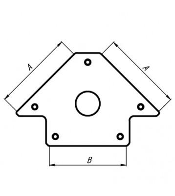 Магнитный угольник MAG 602