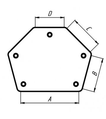 Магнитный угольник MAG 614