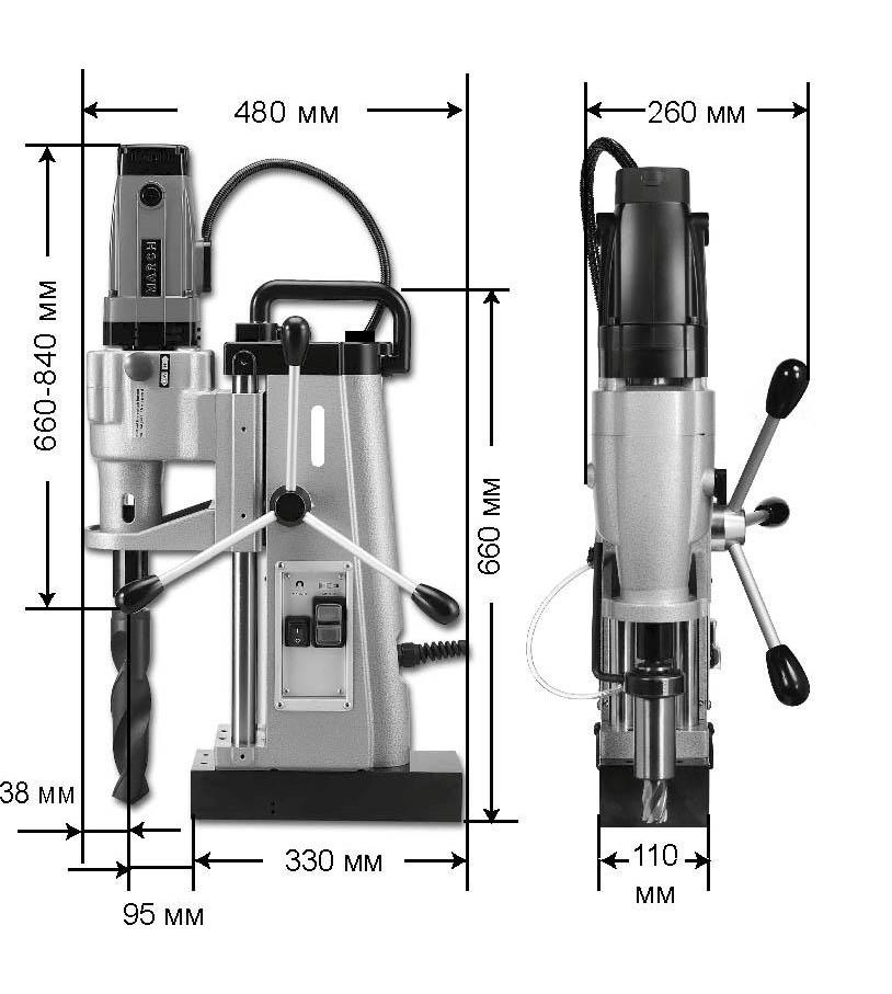 Сверлильный станок на магнитной подушке EUROBOOR ECO.200