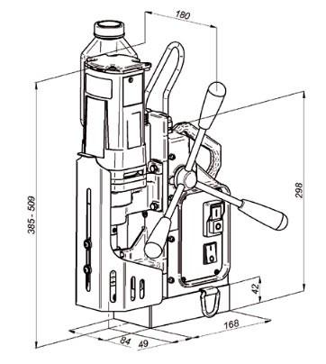Сверлильный станок на магнитной подушке МС-40
