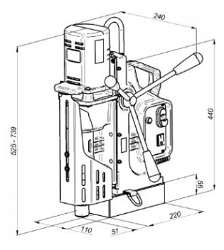 Сверлильный станок на магнитной подушке МС-76