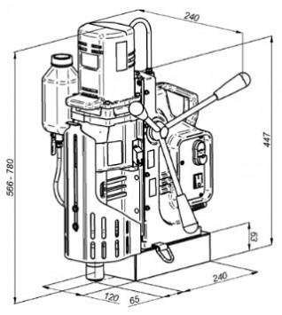 Сверлильный станок на магнитной подушке МС-111